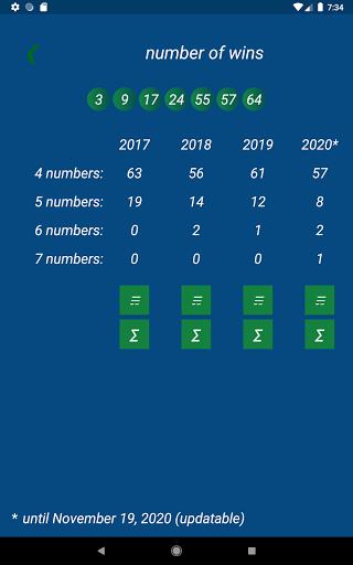 Keno FR combination statistics  screenshots 9