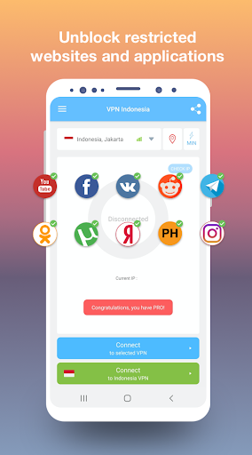 VPN Indonesia - get free Indonesian IP modavailable screenshots 2