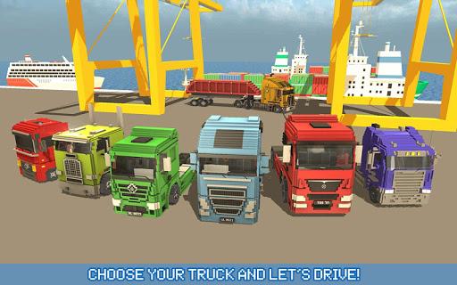 Blocky Truck Driver: Urban Transport 2.2 screenshots 6