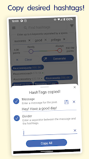 in Tags - Best hashtags generator for social media Screenshot