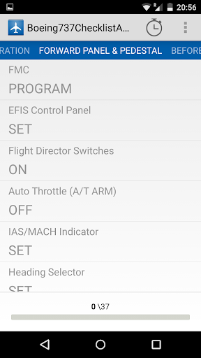 boeing737 ngx checklist screenshot 2