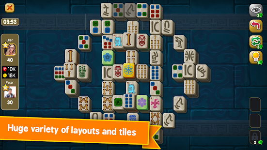 Mahjong Maya Puzzle Live Duels 3.0.67 screenshots 1