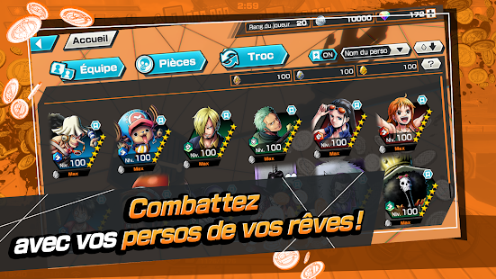 ONE PIECE Bounty Rush - Jeu de combats en équipes screenshots apk mod 3