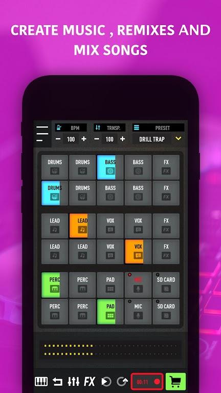 MixPads - Drum pad machine & DJ Audio Mixer  poster 5