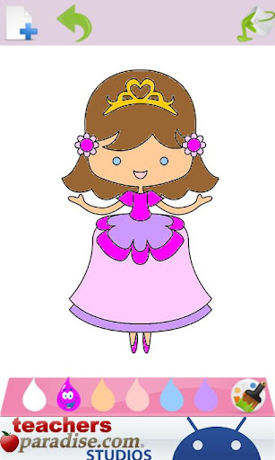 Prince & Princess Coloring Book screenshots 2