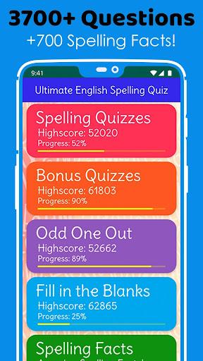 Ultimate English Spelling Quiz : New 2020 Version 2020.33 screenshots 13