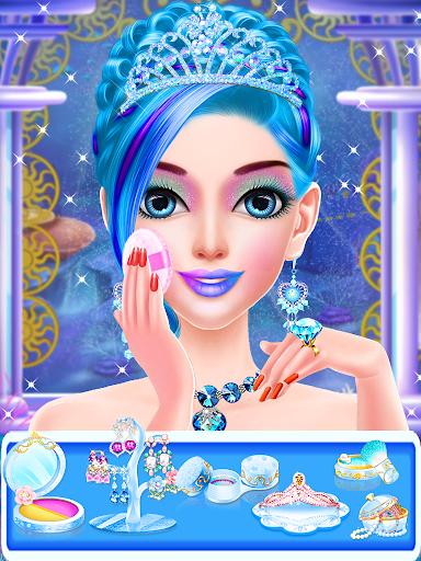 Blue Princess - Makeup Salon Games For Girls screenshots 2