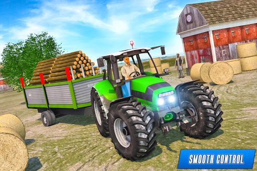 Drive Tractor trolley Offroad Cargo- Free 3D Games apkslow screenshots 14