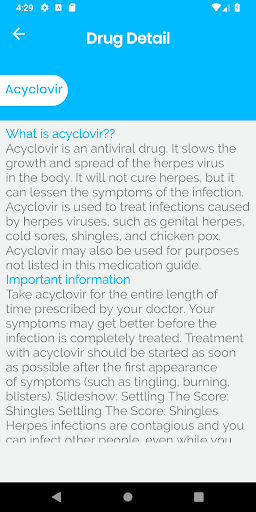 Drugs and Disease Dictionary 1.0 Screenshots 3