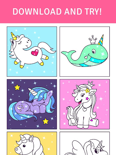 Animated Glitter Coloring Book - My Little Unicorn 10.2 screenshots 4