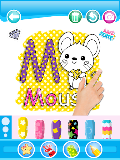 Glitter Number and letters coloring Book for kids 3.8 Screenshots 12