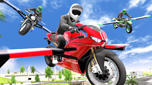Flying Motorbike Simulator android2mod screenshots 22