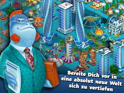 Aquapolis. Stadt bauen Deutsch Screenshot
