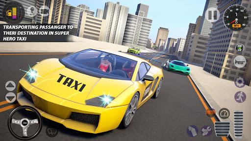 Superhero Taxi Car Driving Simulator - Taxi Games 1.0.2 Screenshots 1