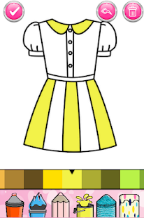 Glitter Dresses Coloring Book - Drawing pages 7.0 Screenshots 5