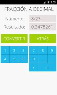 Schermata di frazioni matematiche Pro