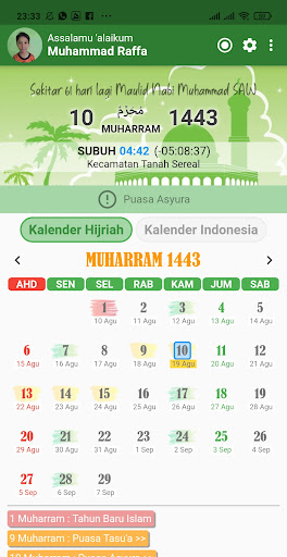 Kalender Hijriah -Puasa Sunnah android2mod screenshots 1