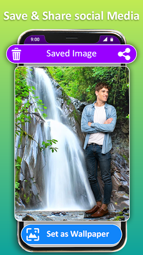 Photo Editor Frames: Water fall Background