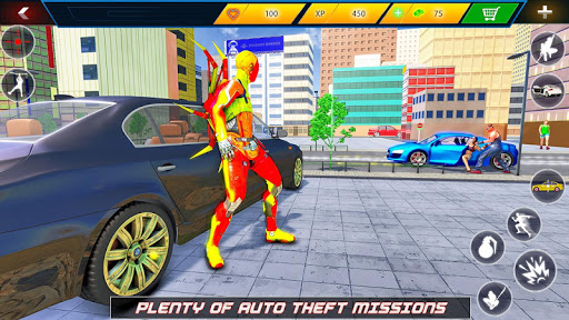 Flying Robot Rope Hero - Vegas Crime City Gangster 3.5 screenshots 7