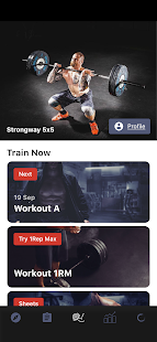 Strongway 5x5 - Weight Lifting & Gym Workout Log