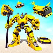 Flying Bus Robot Car - Hammer Robot Transform Game