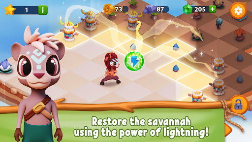 savannah merge! wild animal park & safari zoo game screenshot 3