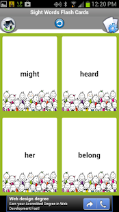 Sightwords Flashcards for Kids