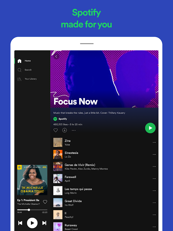 Spotify: Listen to podcasts & find music you love  poster 11