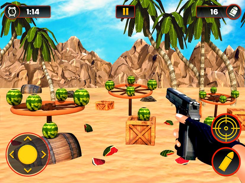Screenshot 9 de Sandía Shooter Juego - Fruta del tiroteo para android