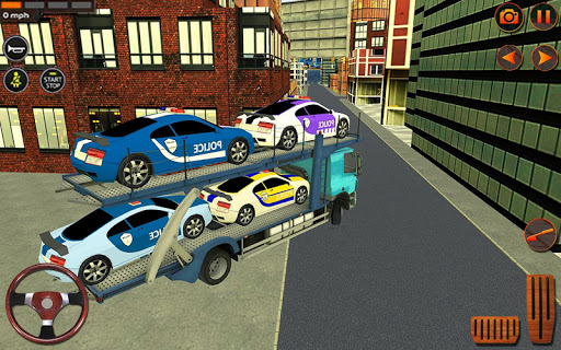 Police Car Transporter Simulator: Truck Driving 3d apkpoly screenshots 15
