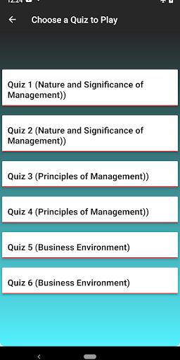 Business Studies XII Class MCQs  screenshots 2