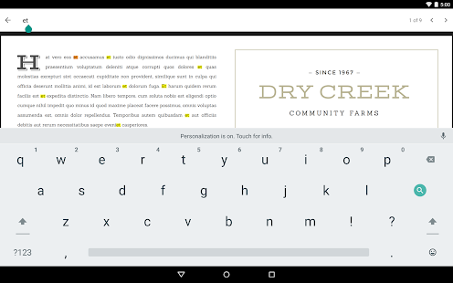 Visor de PDF de Google Screenshot