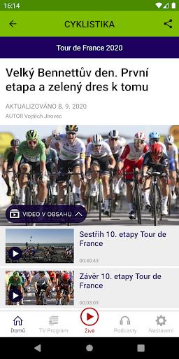 u010cT sport 2.1.0 Screenshots 3