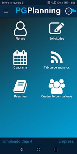 pgplanning portal del empleado screenshot 2