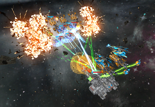 Space Ships WAR: Unique TD Battles apkpoly screenshots 2