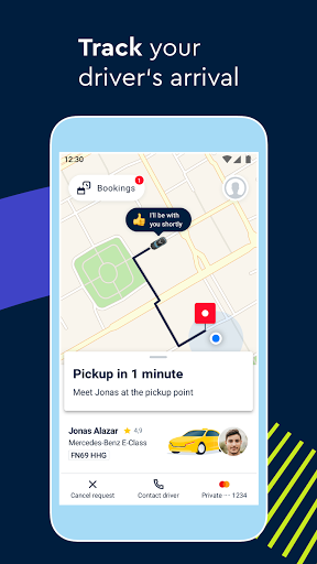 FREE NOW (mytaxi) - Taxi Booking App 10.41.0 Screenshots 4