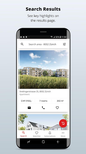 homegate.ch - apartments to rent and houses to buy 10.4.1 Screenshots 1