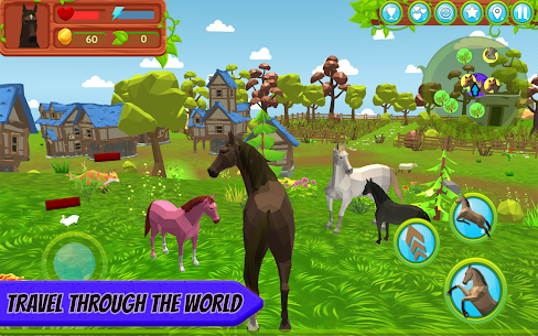 Horse Family – Animal Simulator 3D MOD (Gold Coins/Food) 1