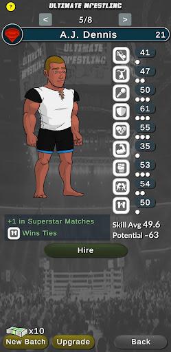 Ultimate Wrestling Manager APK MOD (Astuce) screenshots 5
