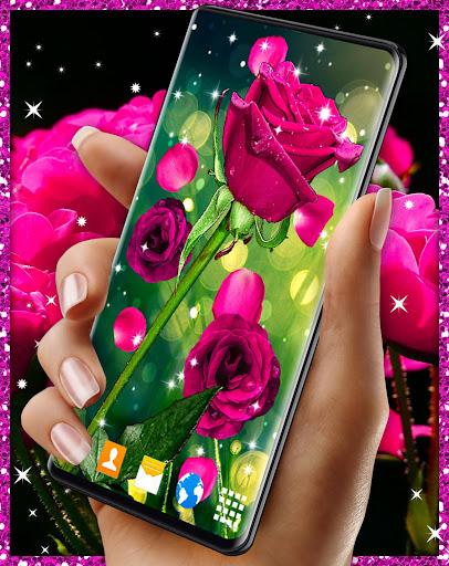 Pink Rose Live Wallpaper 🌹 Parallax 4K Wallpapers  screenshots 1