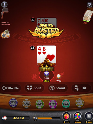 BlackJack 21 - blackjack free offline games 1.5.2 screenshots 9