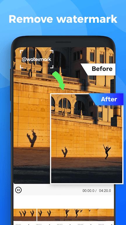 Video Watermark - remove Watermark & add logo poster 0