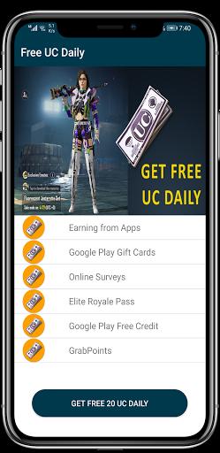 Free UC and Free Royal Pass  Screenshots 1