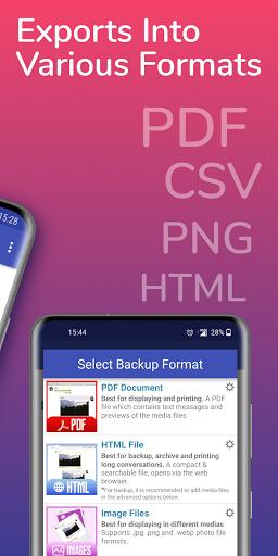 ud83dudd25SMS Backup, Print & Restore -Export PDF,HTML,CSV apktram screenshots 3