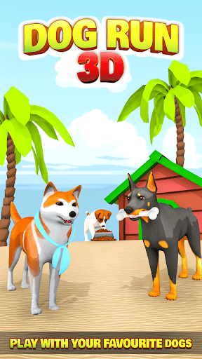 Dog Run - Fun Race 3D apkpoly screenshots 7