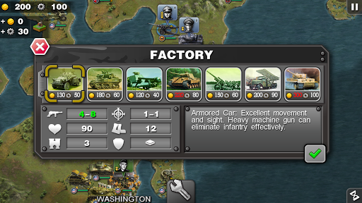Glory of Generals-WW2 frontline War Strategy Game 1.2.12 Screenshots 2