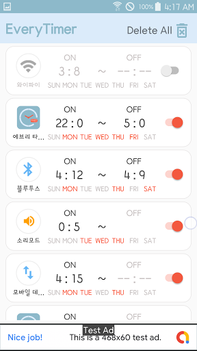 Every Timer-WiFi/Bluetooth/Sound/App auto on off  Screenshots 3
