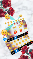 Marble Red Rose Keyboard Theme