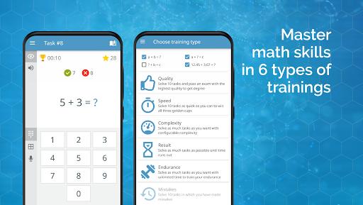 Math games: arithmetic, times tables, mental math  Screenshots 4