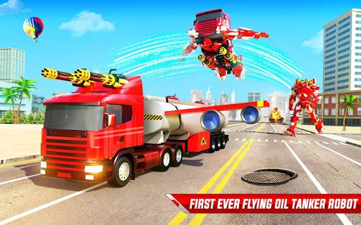 Flying Oil Tanker Robot Truck Transform Robot Game 33 Screenshots 4